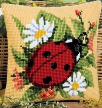 Vervaco 1200-641 Ladybird Cushion Front